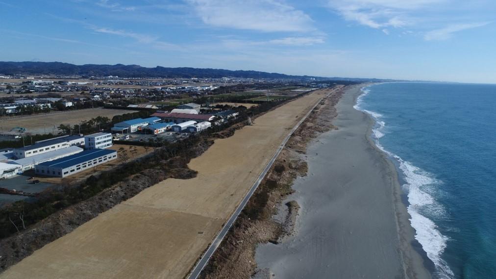 静岡モデル防潮堤整備工事 現場の写真