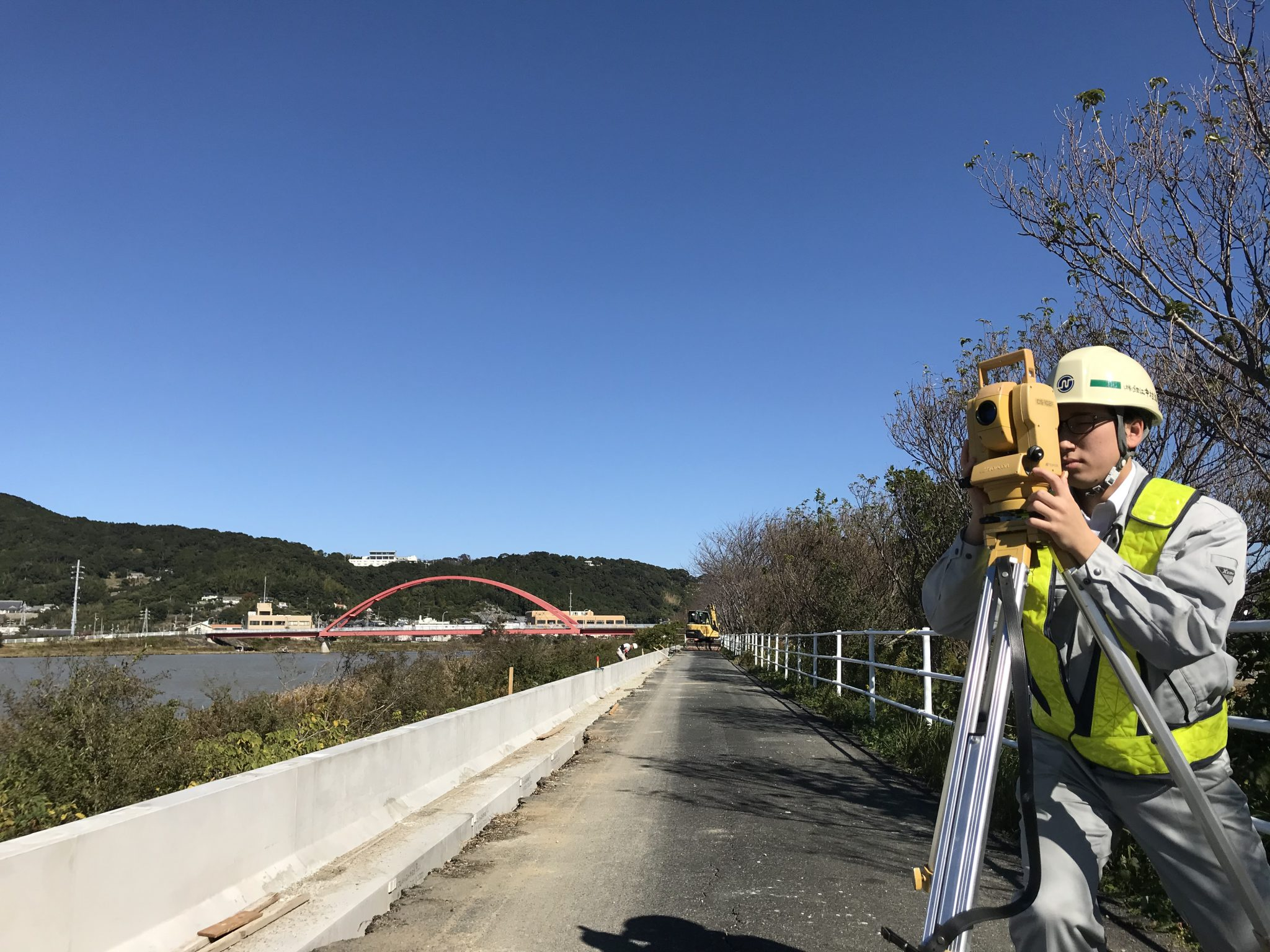 土木工事施工管理状況の写真