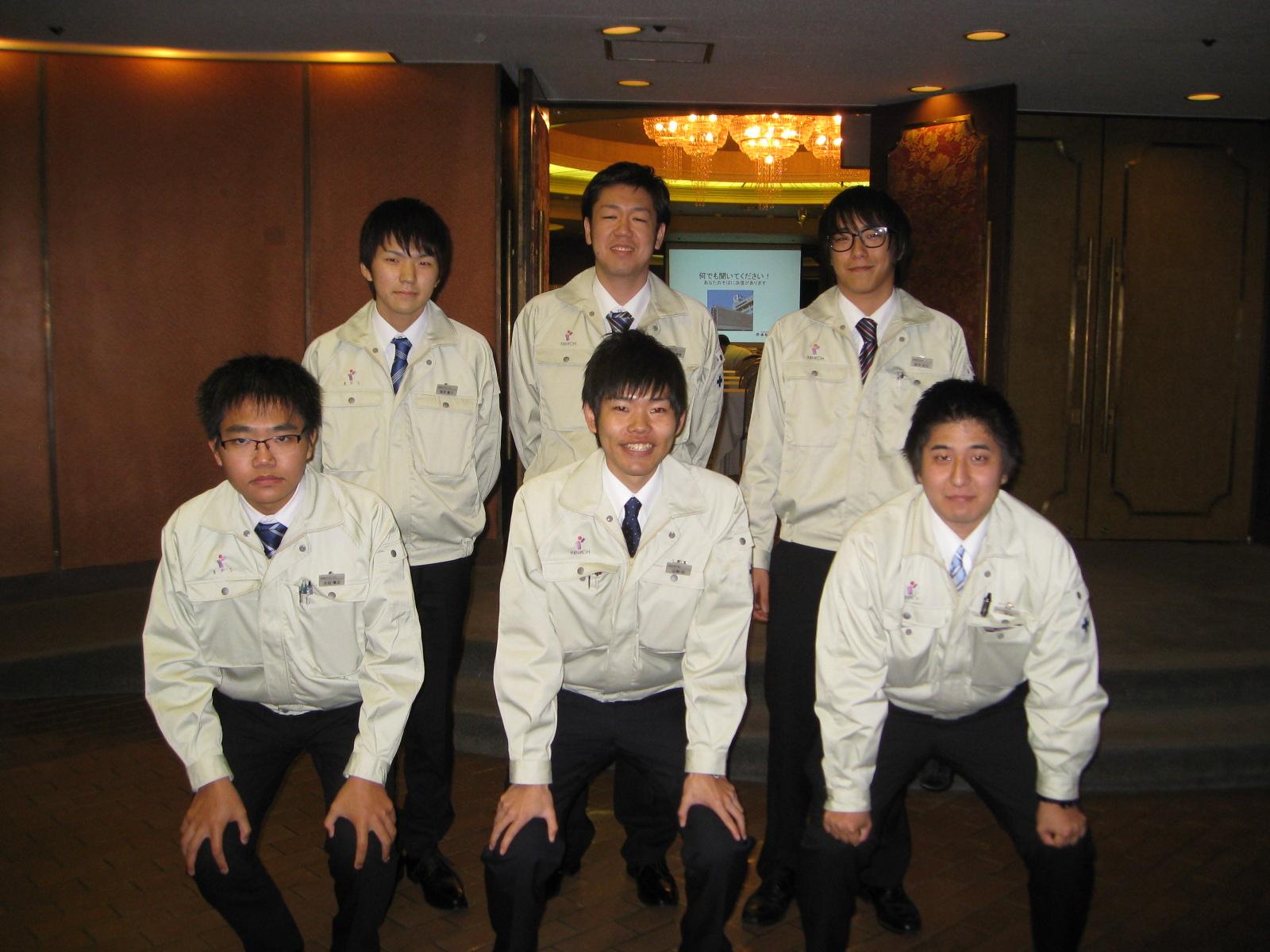 年間休日117日若手が元気な会社です。
