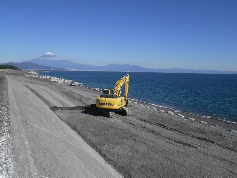 清水西海岸高潮対策事業 養浜工事